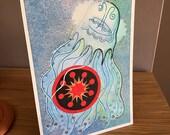 Box Jellyfish as Totem - Original Art