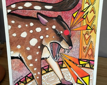 Spotted Quoll as Totem - Original Art