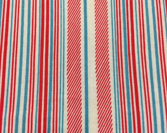 Denyse Schmidt Fabric by the Yard - Shelburne Falls - Fine Stripe in Maple - Quilter's Cotton
