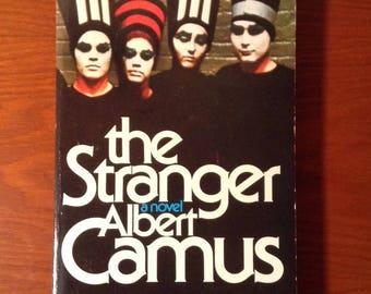 The Stranger by Albert Camus vintage paperback book, vintage book, existentialism, paper back, soft cover, book collector, reader gift