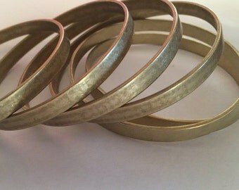 Unfinished Brass Bangle Bracelets Brass 1/4 inch or 6mm wide Bracelet Blank 1520 x2