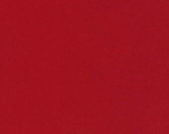 Three (3) Yards - Montauk Twill Scarlet Red Apparel Fabric