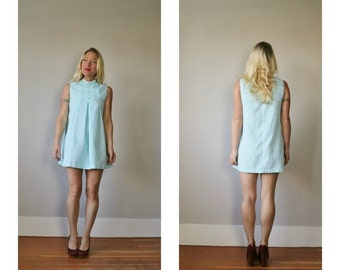 ON SALE 1960s Baby Blue Dress~Size Extra Small or Girls Size 10/12