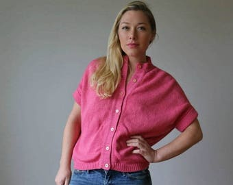 SPRING SALE 1950s Carnation Colebrook Slouch Sweater /// Size Small to Medium