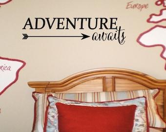 Adventure Awaits Wall Decal Wall Words Wall Words Transfer Sticker