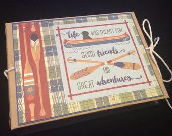 Camping Mini Album, Camp Scrapbook Album, Photo Album, Mini Camping Photo Album, Scrapbook, Adventure Album, Vacation Scrapbook, Journal