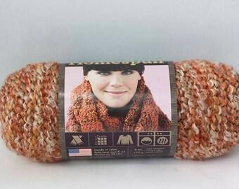Destash,  Lion Brand Homespun Yarn Spice,  6 oz., 185 Yard Skein, Bulky Yarn, Copper Cream