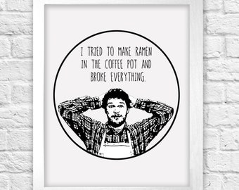 Parks and Rec Andy Dwyer illustration print