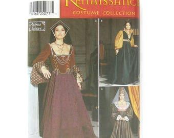 Renaissance Medieval Dress / Simplicity 9929  / Renaissance Fair Costume / Sewing Pattern Size 6-8-10 -12  / UNCUT
