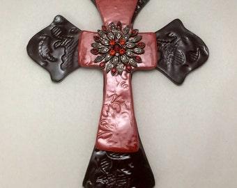 Handmade Pottery Mosaic Cross