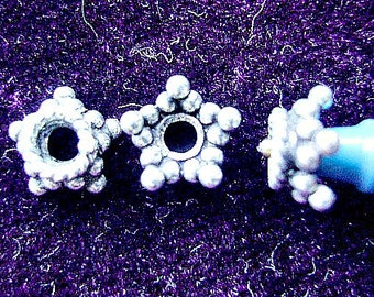 BEAD, CAP, Bali, Sterling, Silver, Spacer, Star, Flower, Antiqued, 10, 30, 100 Pieces