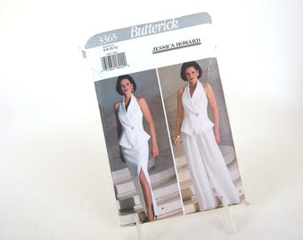 Uncut Vintage 1990's Two Piece Formal Sewing Pattern, Butterick 3365, Sizes 6, 8, 10, 12, Bust 30.5 - 34 Inches
