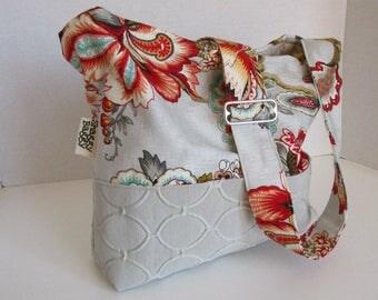 Handbag crossbody bag purse home decor fabrics quilted interior pockets