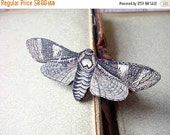 Black Friday 4 Day Sale Moth Brooch, Brown and Beige Butterfly Pin, Gift for Collector or Naturalist