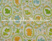 Mod Baby Animals - Vintage Fabric Whimsical Novelty Ducks Lions Bunnies Elephants Lamb Cats Dogs (Reserved)