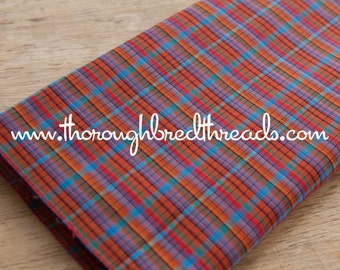 Mad About Plaid - Vintage Fabric Multi-Colored Checked Madras