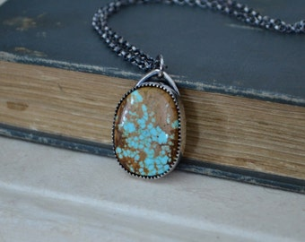 Natural #8 Turquoise Necklace