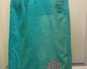 Kids monogrammed terry bath/spa wrap  flower girl gift