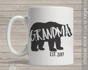 Coffee mug grandma bear grandma established any year personalized mug CMGMB