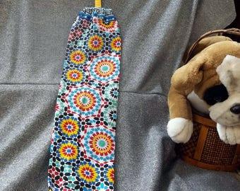 Plastic Bag Holder Sock, Large Moroccan Tile Print