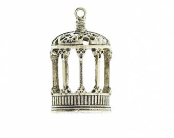 Birdcage Pendant Charm , 31mm sold by 3 each 05916AG