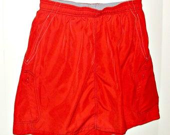 Women's Size L/XL Repurposed Red Swimskirt
