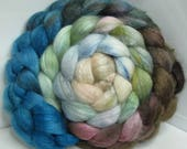 Sale BFL/Tussah 75/25 Roving Combed Top - 5oz - Weathered Wood 2