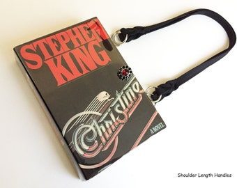 Christine Recycled Book Purse - Stephen King Book Clutch - Horror Book Cover Handbag - Gothic Bookish Accessory - Literary Gift