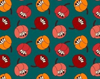 Retro Tulip Fabric - Tulip Field By Oleynikka - Mod Scandi Retro Floral Nursery Decor Cotton Fabric By The Yard With Spoonflower