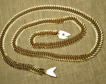 Gold Fish Skeleton Lariat