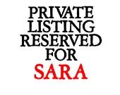 Custom Listing Reserved for SARA