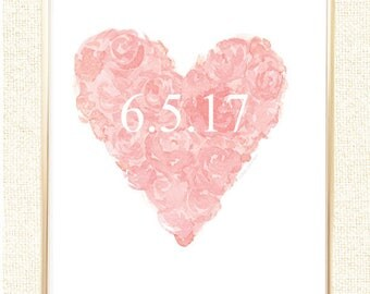 Blush Wedding Decor Date Special Bridal Shower Gift