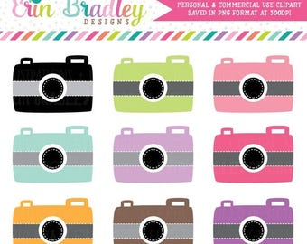 50% OFF SALE Camera Clip Art Clipart Photography Graphics for Personal & Commercial Use Instant Download