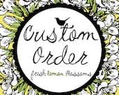Victoria Custom Order 5 inch Letter Banner