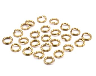 6mm Jump Rings - 250 Raw Brass Jump Rings (6x1mm) A0357