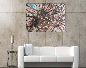 Original large abstract painting wall art deco by Elsisy 48x36 Christmas sale