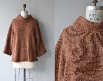 Sanchi sweater   vintage knit tunic   80s oversized tunic sweater
