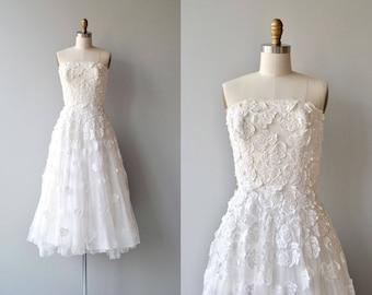 Ananke wedding dress | vintage 1950s wedding dress | strapless 50s wedding dress