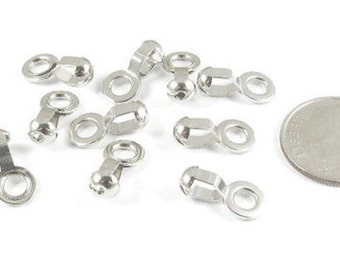 Ball Chain Lamp/Fan Pull Loop Connectors-SILVER (10 pieces)