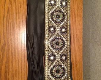 Tribal fusion , Tribal, bellydance, wide beaded belt