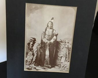 Native American picture , postcard matted