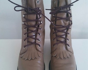 Vintage JUSTIN Lace Up Boots size 6.5