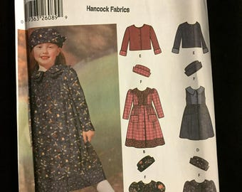 Simplicity #5847: Girls' Jumper and Underdress Sewing Pattern, SZ 3-8