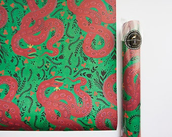 Gift Wrapping - Red Snake