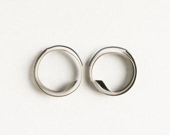 Small bronze hoops, hoop earrings