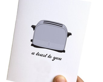birthday cards funny // a toast to you // birthday card funny // funny birthday card // birthday card for him // bday card funny for her