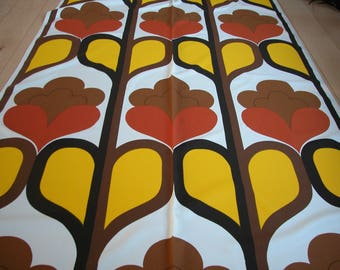 BOLD design Original 70s Fabric, still on bolt, op art material, tissu vintage, retrostoffe, retro stoff deko, 1970s curtains