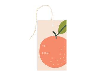 Peach Gift Tag