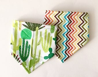 Bandana Bibs for Baby - Cactus Set, Bibdana's, Baby Shower Gift