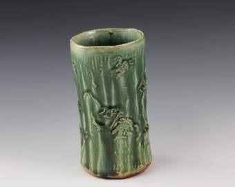 Handmade Green Ceramic Vase